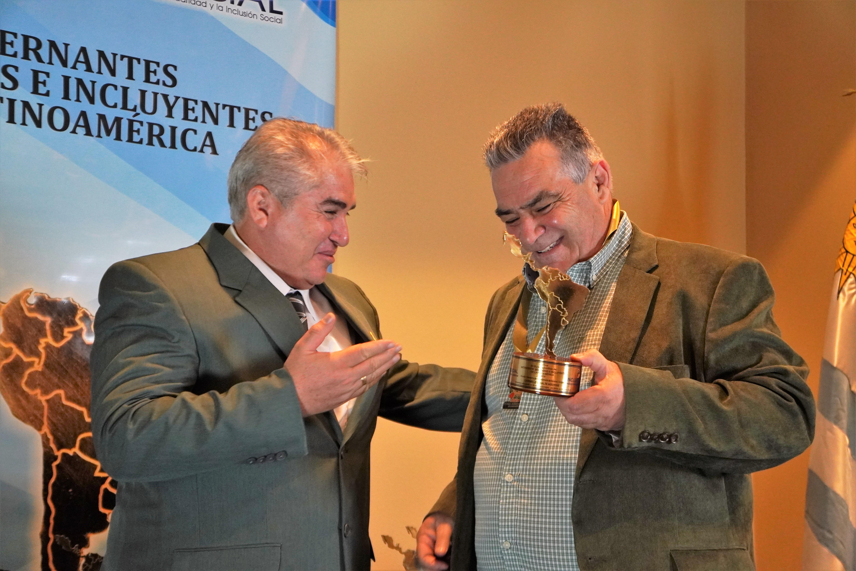 Carmelo Vidalín Aguirre recibió el premio «Intendente Solidario e Incluyente de Latinoamérica 2019»